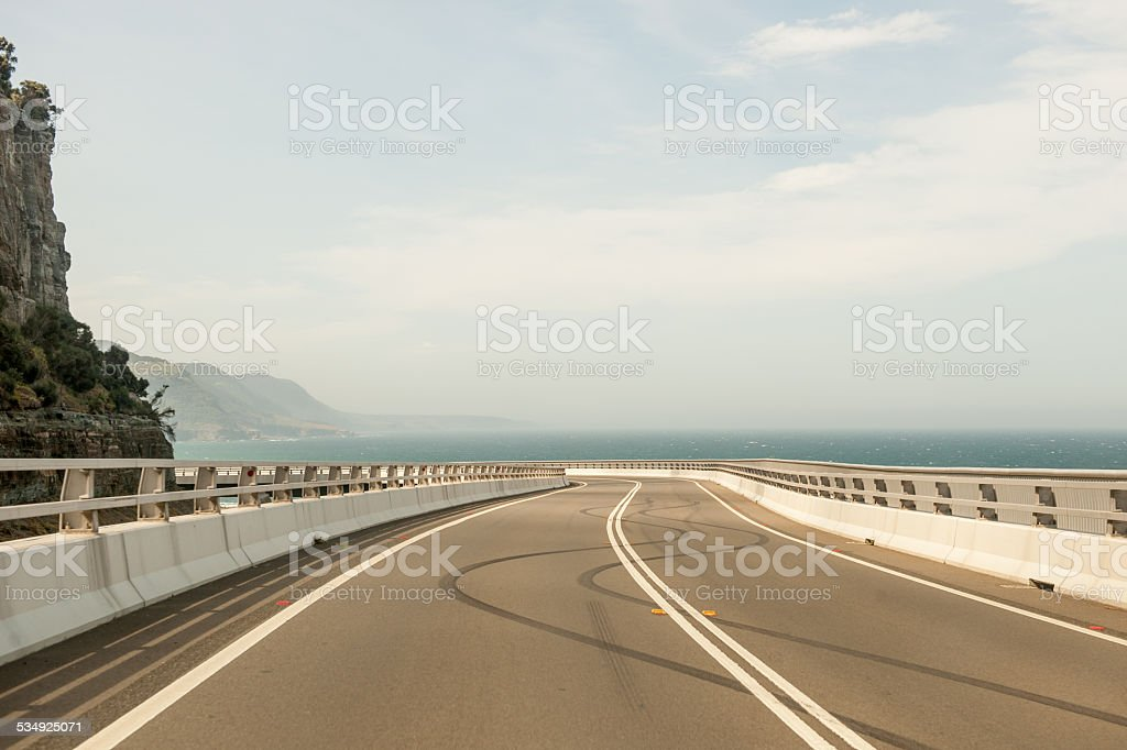 Sea Cliff Bridge Burnouts 2 stock photo