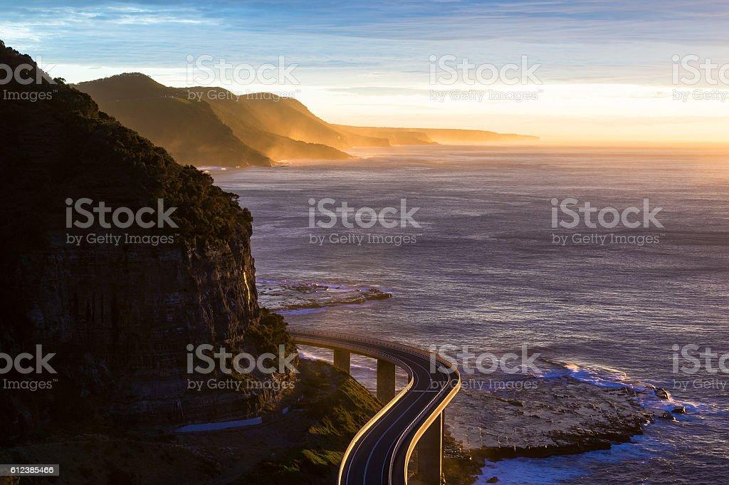 Sea Cliff Bridge on sunrise – Foto