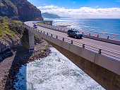 Scenic and sunny day on the Sea Cliff Bridge