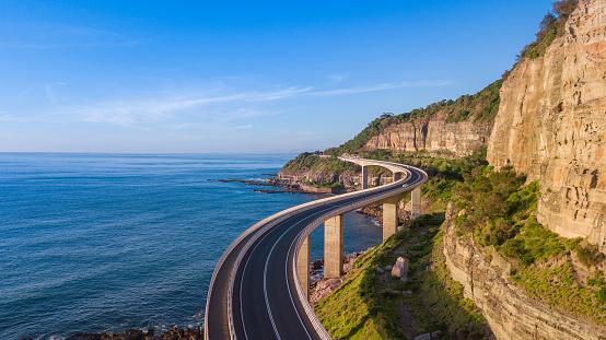 Scenic and sunny day on the Sea Cliff Bridge