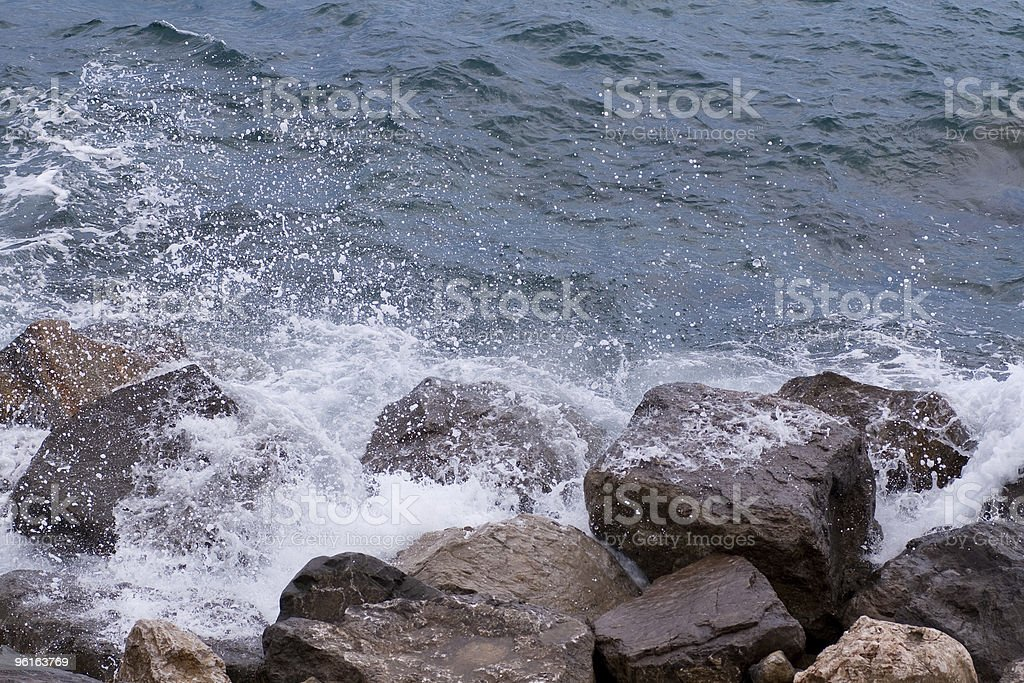sea cliff in San Remo stock photo
