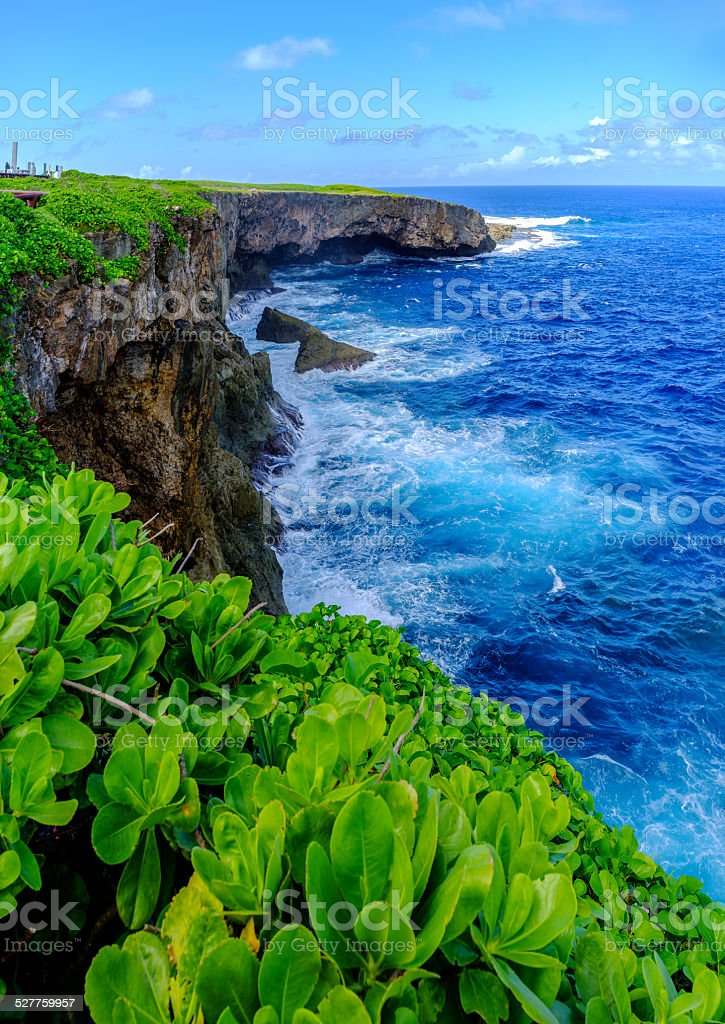Sea cliff stock photo