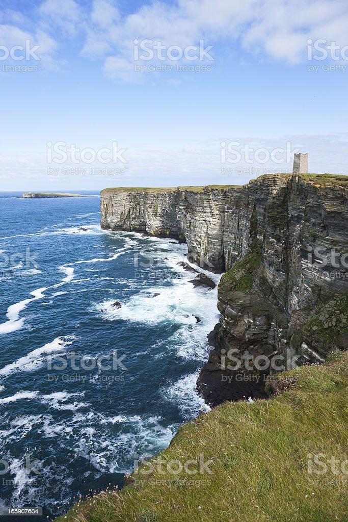Sea Cliffs at Marwick Head stock photo