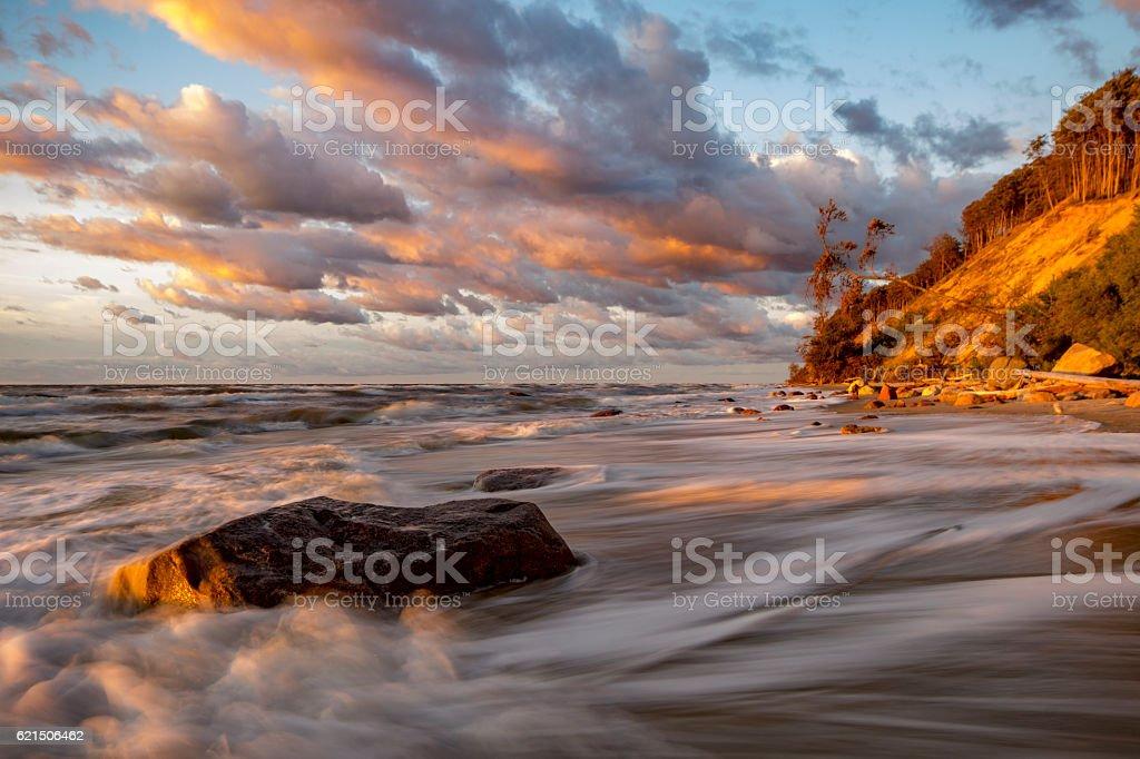 sea cliffs on the Baltic coast photo libre de droits