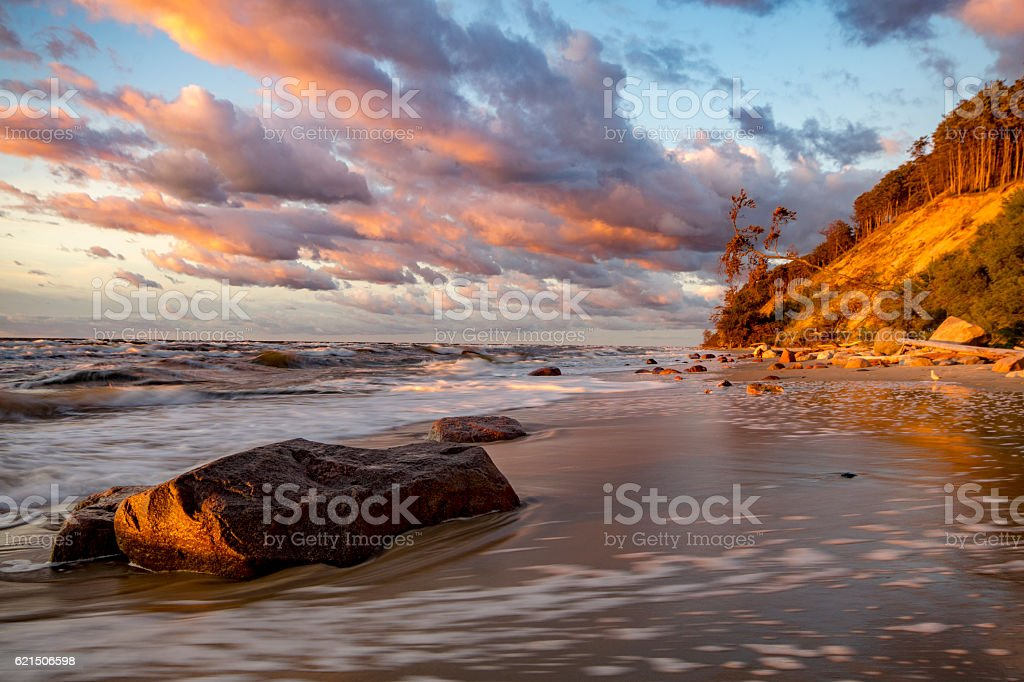 sea cliffs on the Baltic coast photo libre de droits