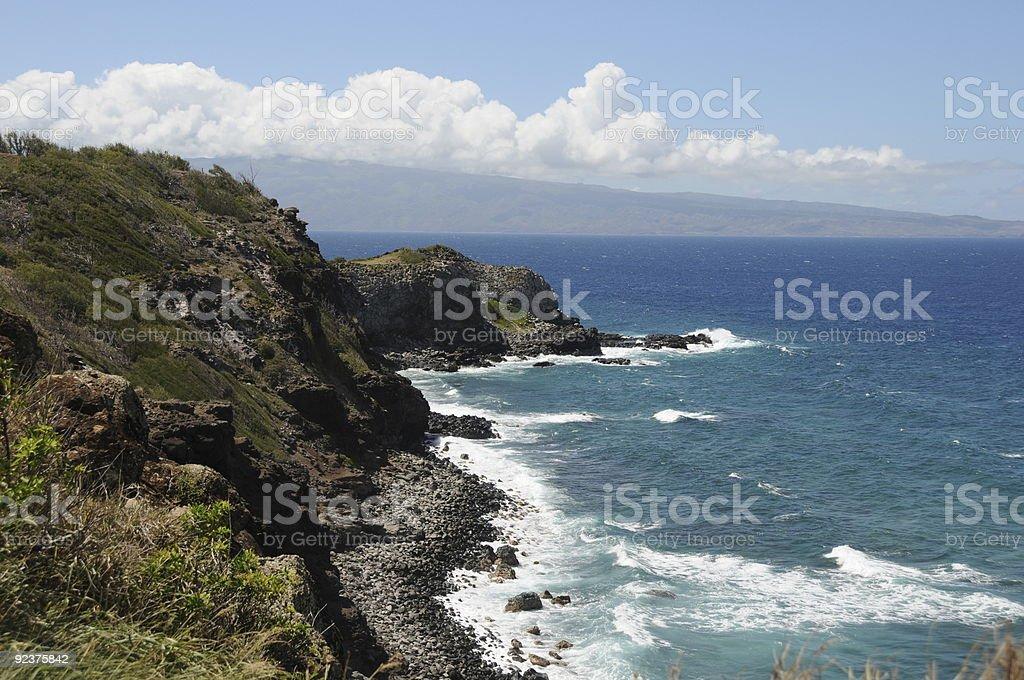 Sea coast Hawaii royalty-free stock photo