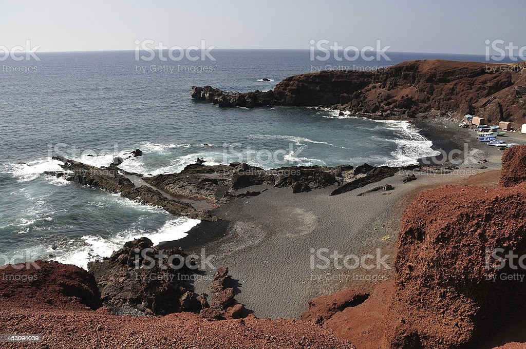 Meer Küste der Kanarischen Insel Lanzarote – Foto