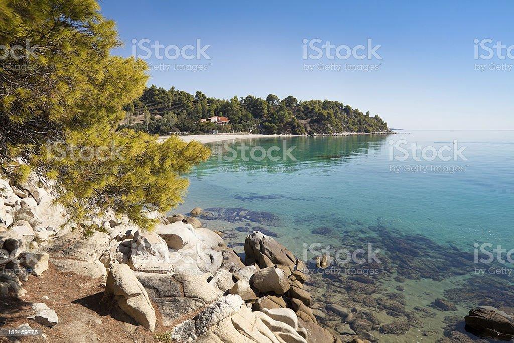 Sea coast with beach royalty-free stock photo