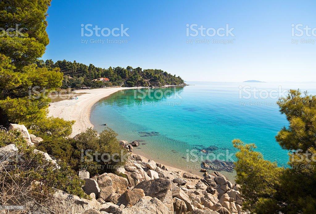 Sea coast with beach. Summer vacations royalty-free stock photo