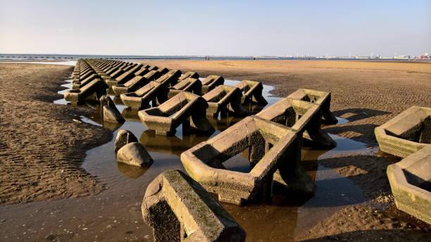 Meer Küstenverteidigung in New Brighton Beach – Foto