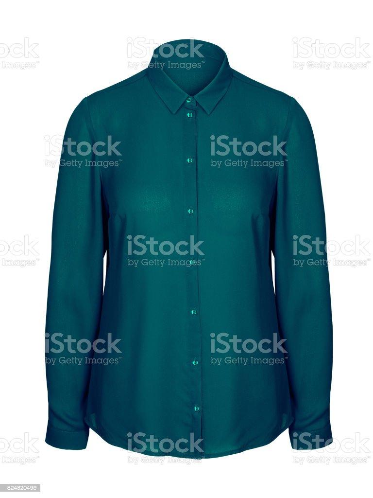 Meer Farbe jade elegantes Büro Business Frau Hemd mit Kragen isoliert – Foto