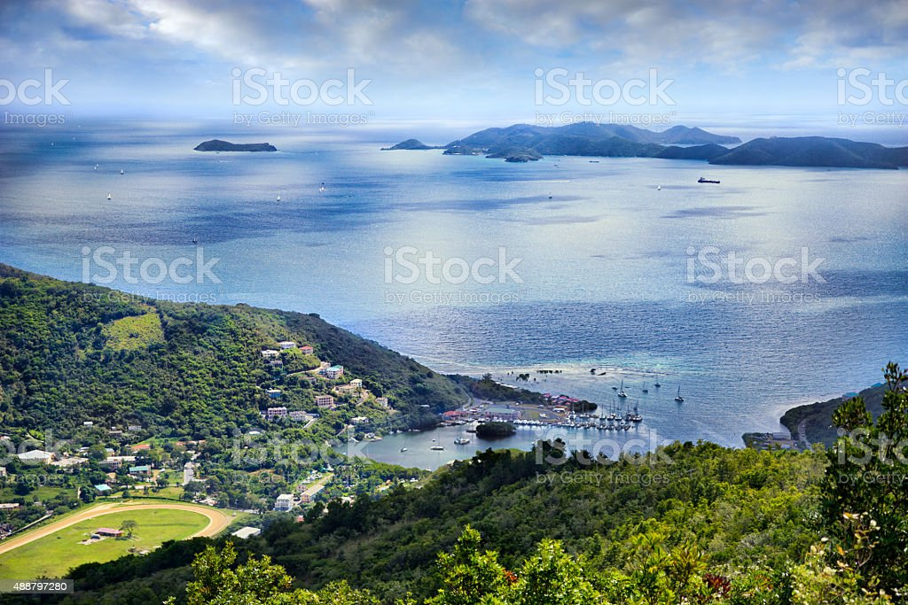 Sea Cow Bay, Tortola British Virgin Islands stock photo