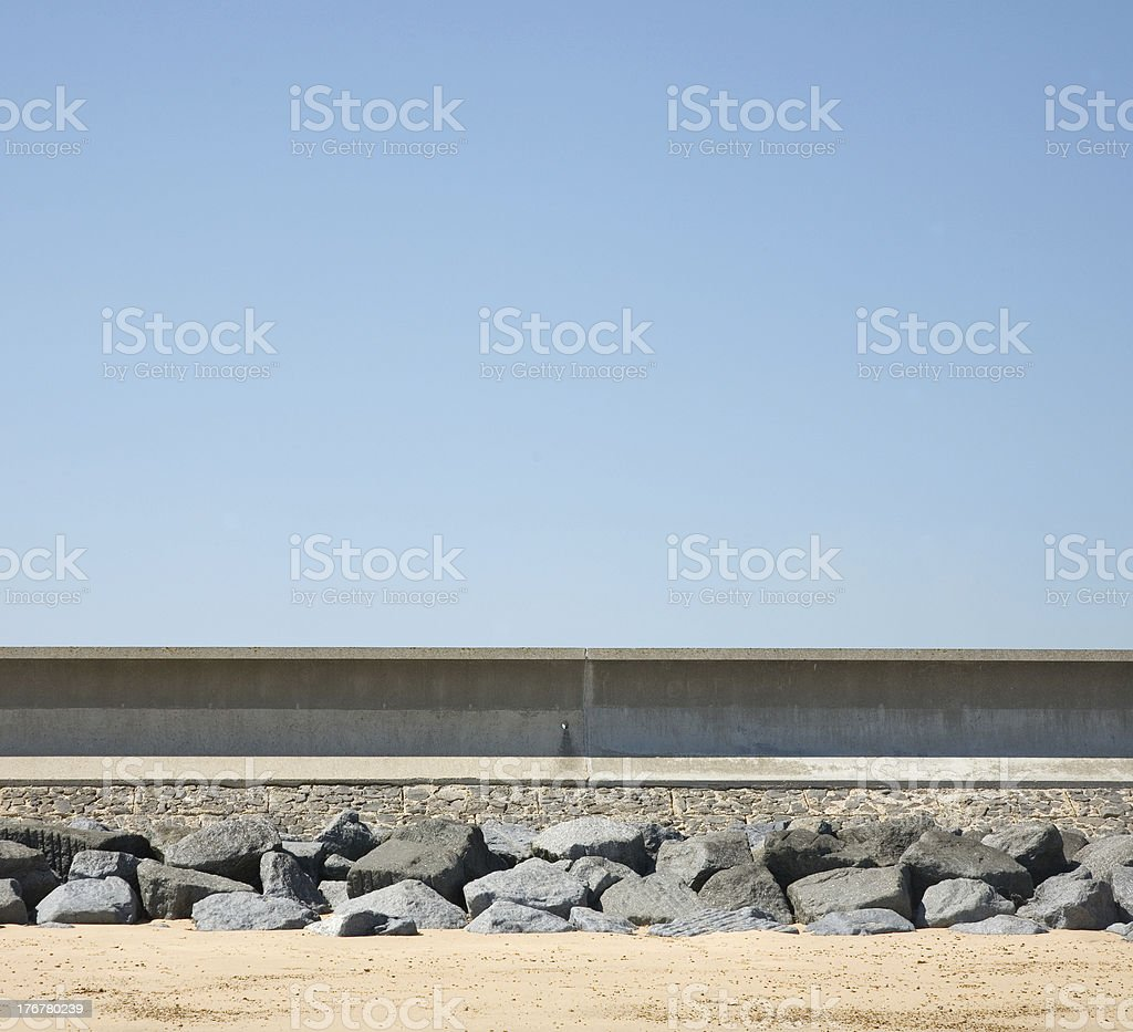 Sea Defences, Essex, England stock photo