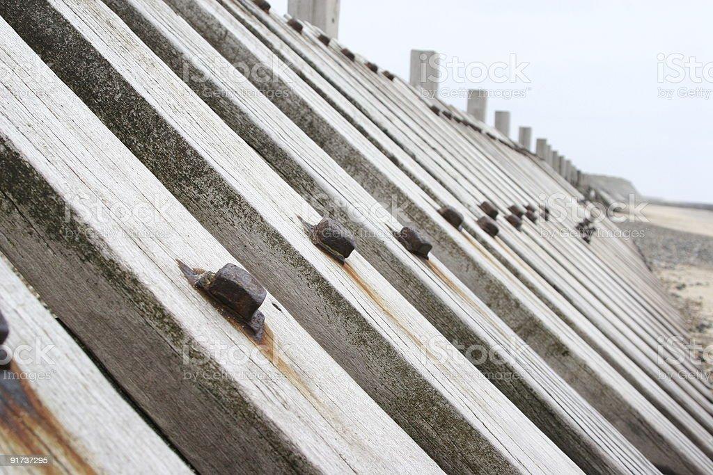 Sea Defences stock photo