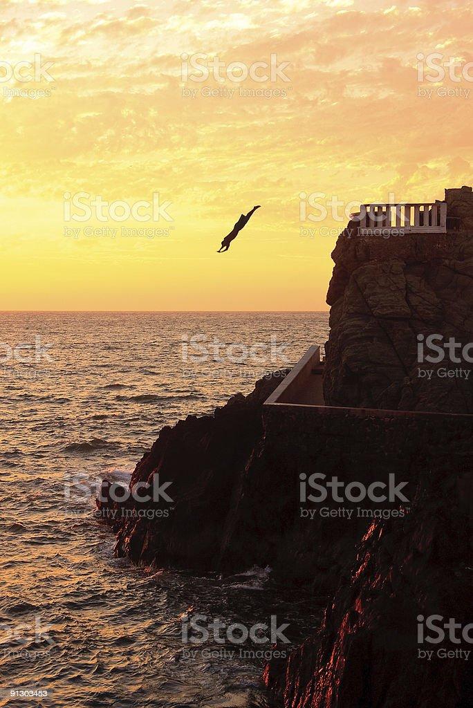 Sea Diver at Mazatlan stock photo