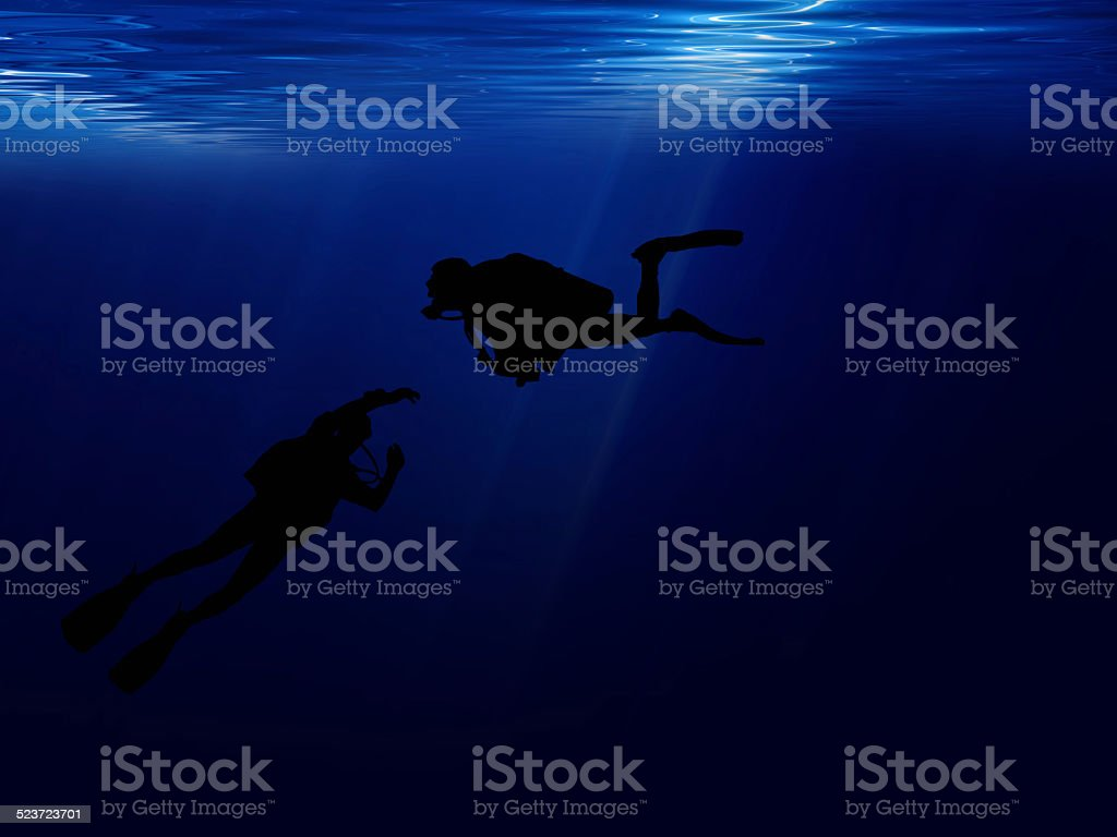 Sea diving. stock photo