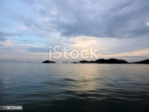 istock Sea. Dramatic sunset. 1136230065
