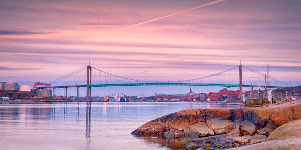 Sea Entrance to Gothenburg in the evening stock photo