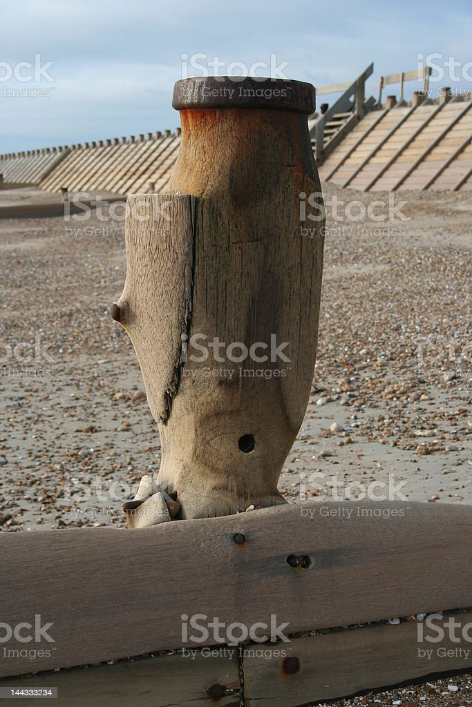 Eroded Sea Groyne : Istockphoto