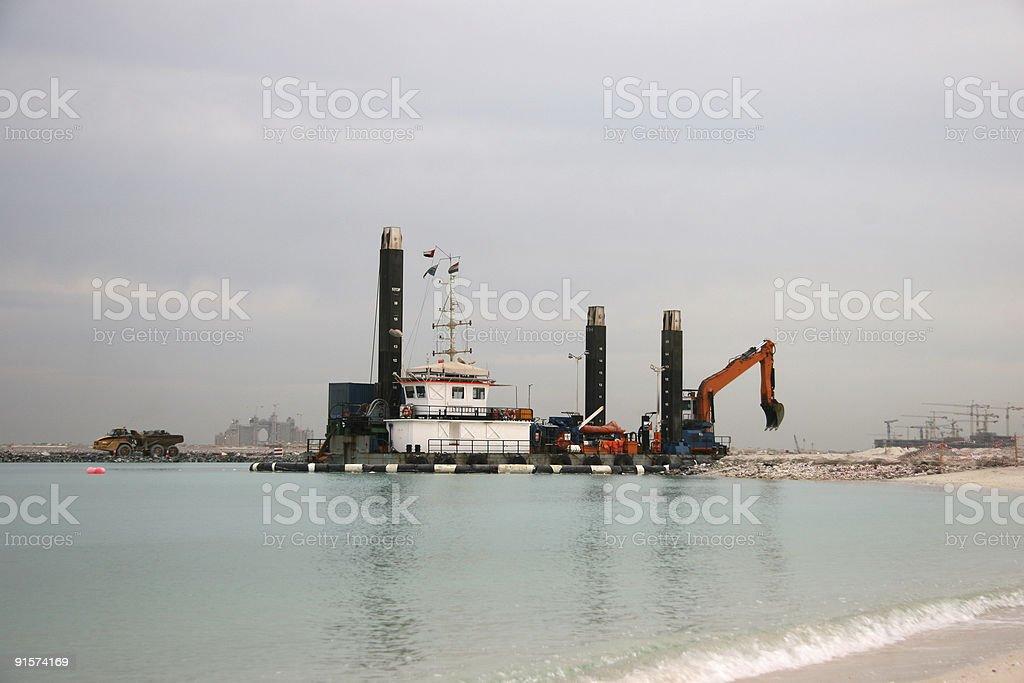 Sea Excavation stock photo