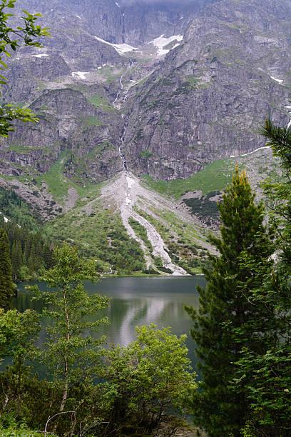 Lago Morskie Oko, Montanhas Tatra - foto de acervo