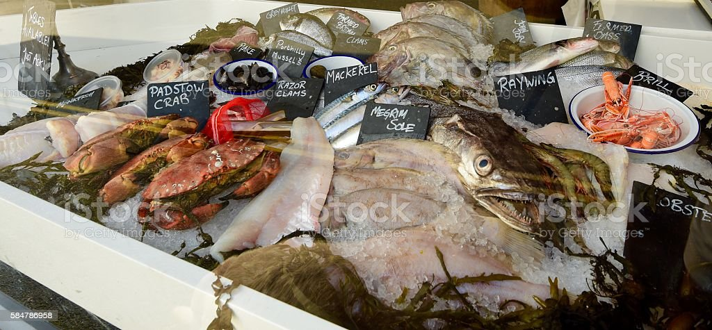 Sea Food Market stock photo