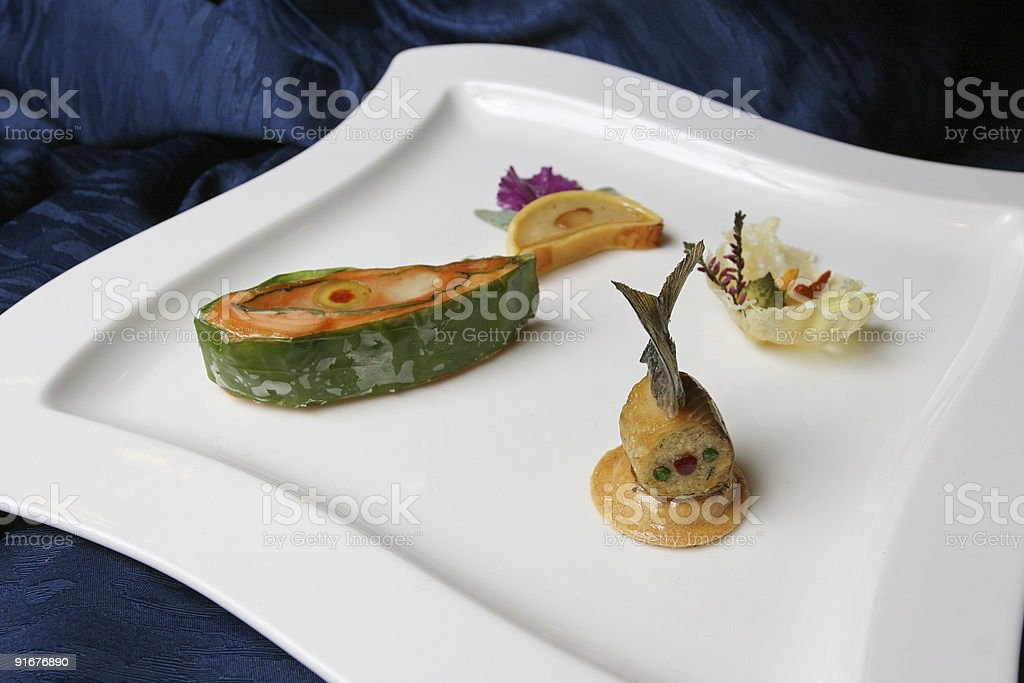 Sea food on plate royalty-free stock photo