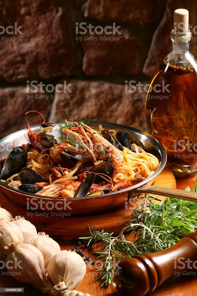 sea food pasta royalty-free stock photo