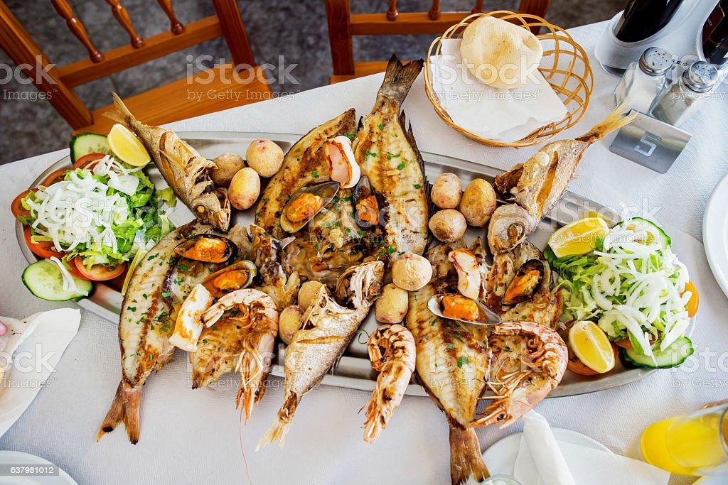 Sea food stock photo