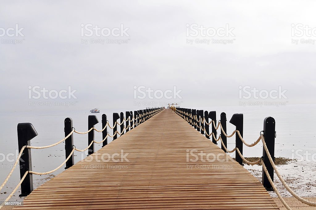 sea footbridge royalty-free stock photo
