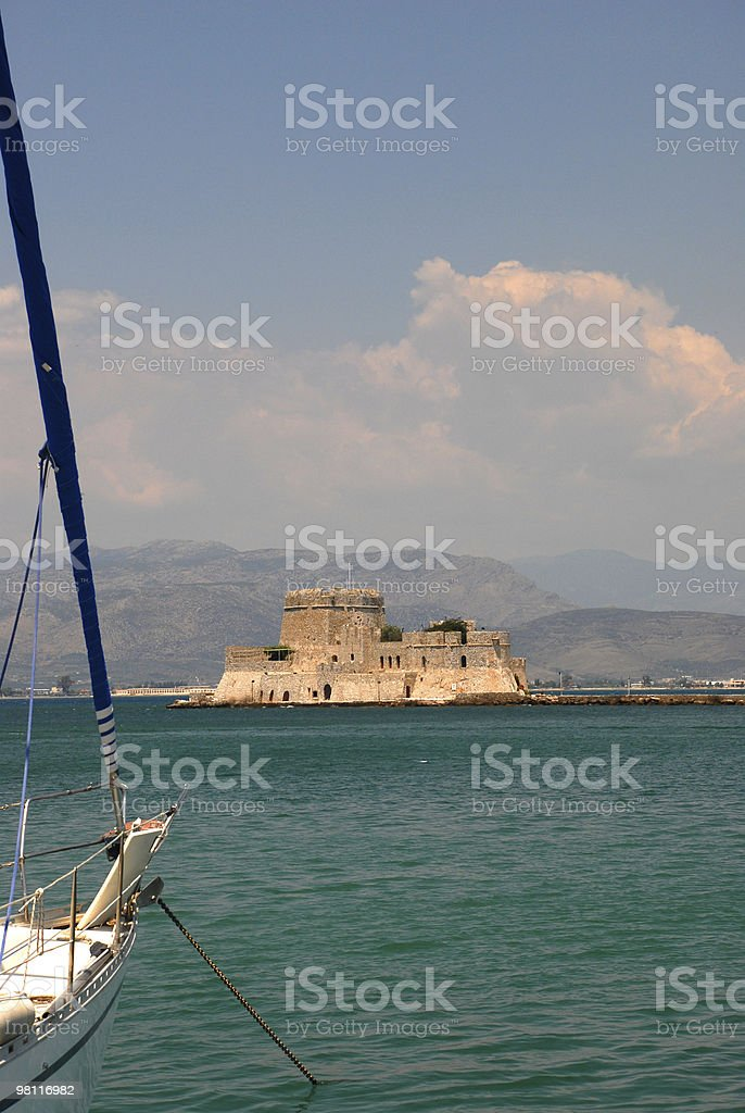 Sea Fortress of Nauplia royalty-free stock photo