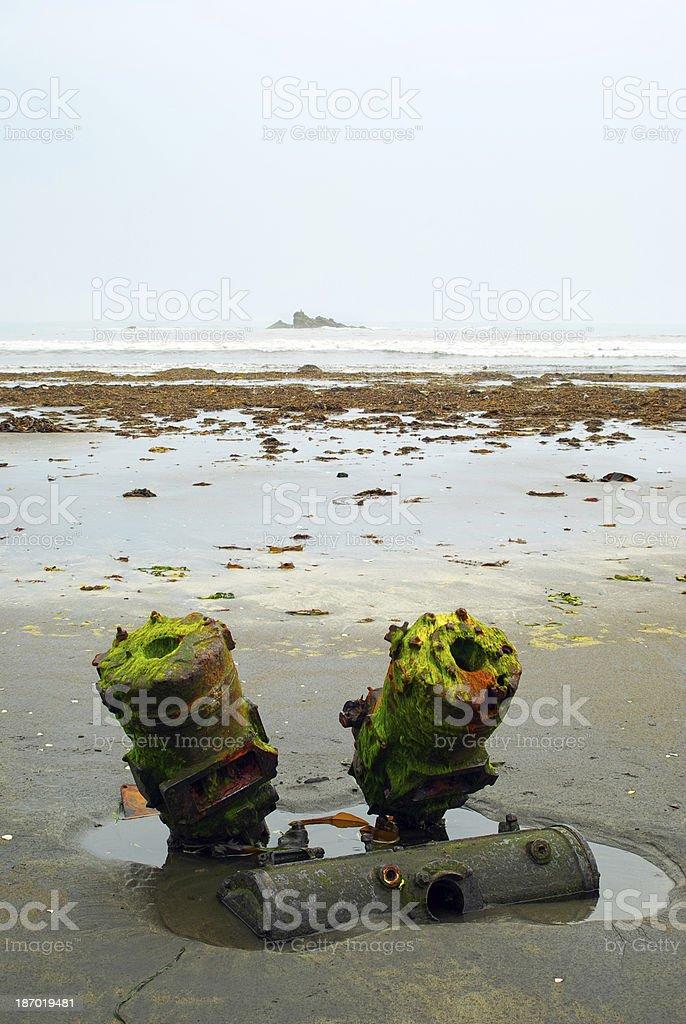 Sea garbage royalty-free stock photo