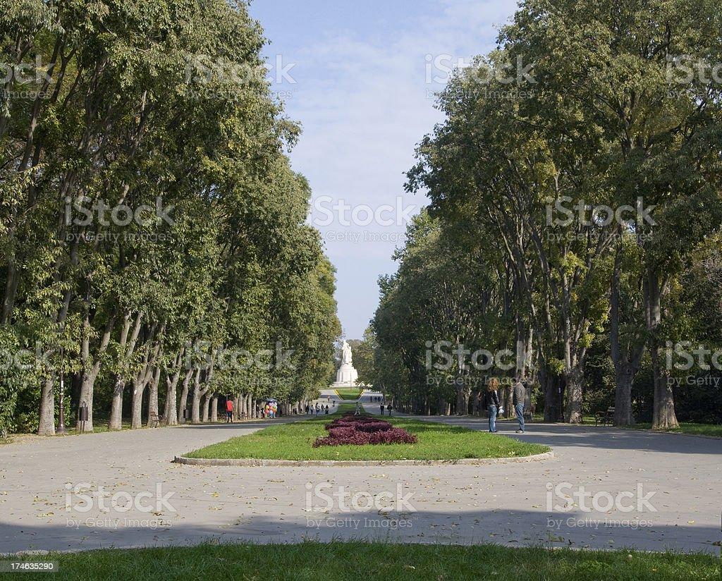 Sea garden park in Varna royalty-free stock photo