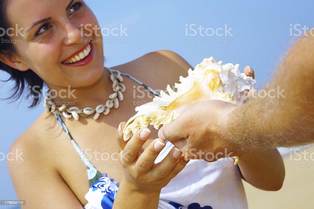 sea gift royalty-free stock photo