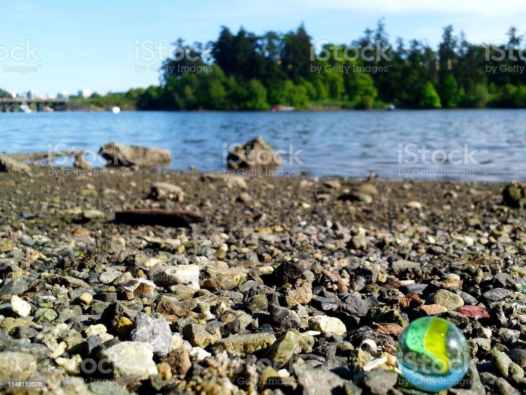 Sea Glass Marble stock photo