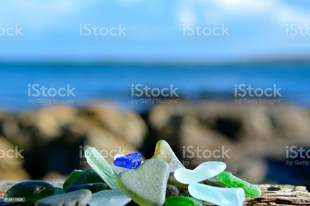Sea Glass stock photo