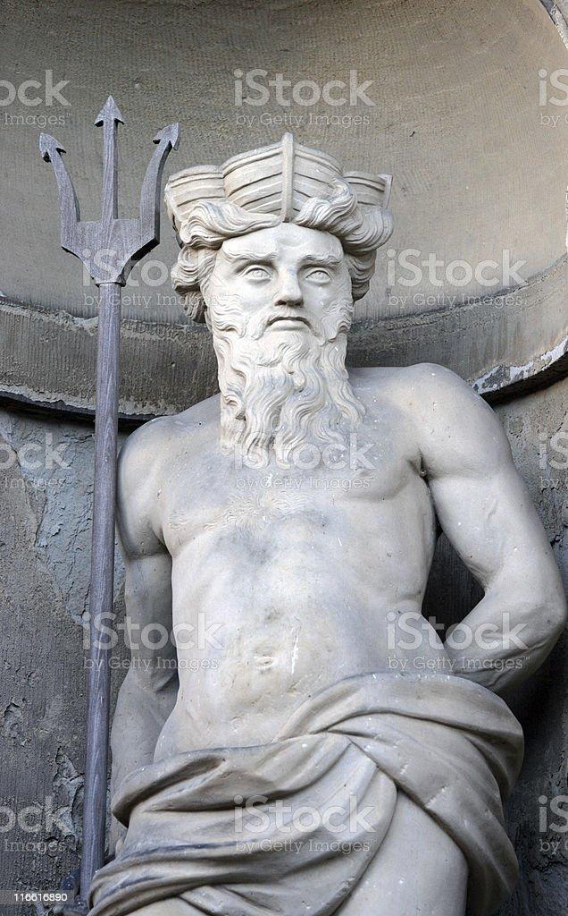 sea god Neptun. royalty-free stock photo