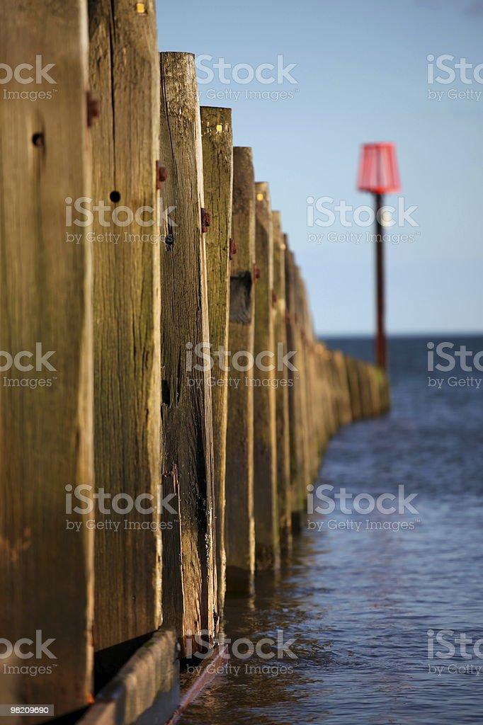 Sea Groyne royalty-free stock photo