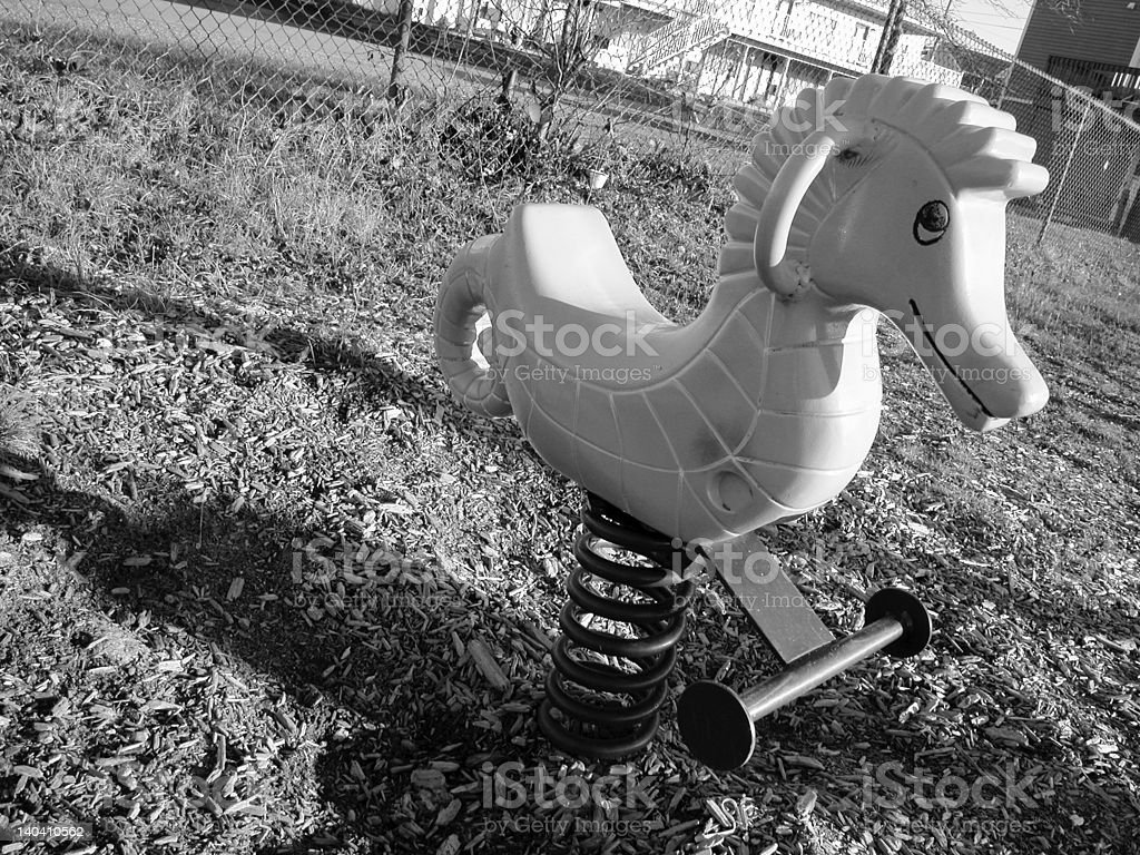 Sea Horse Playground Toy stock photo