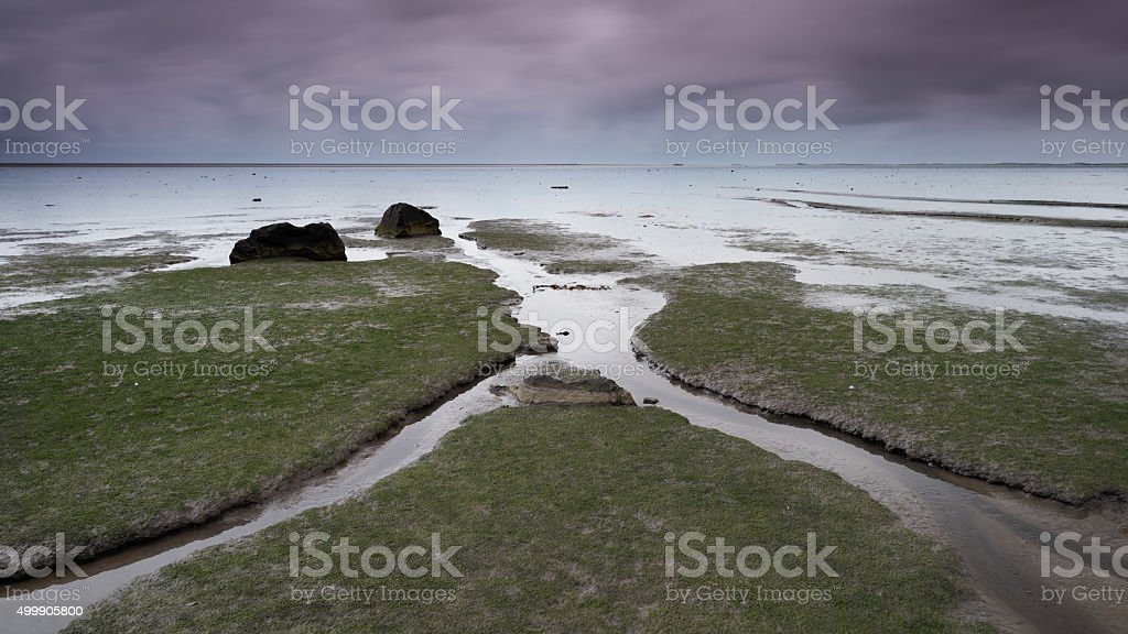 Sea in Iceland stock photo