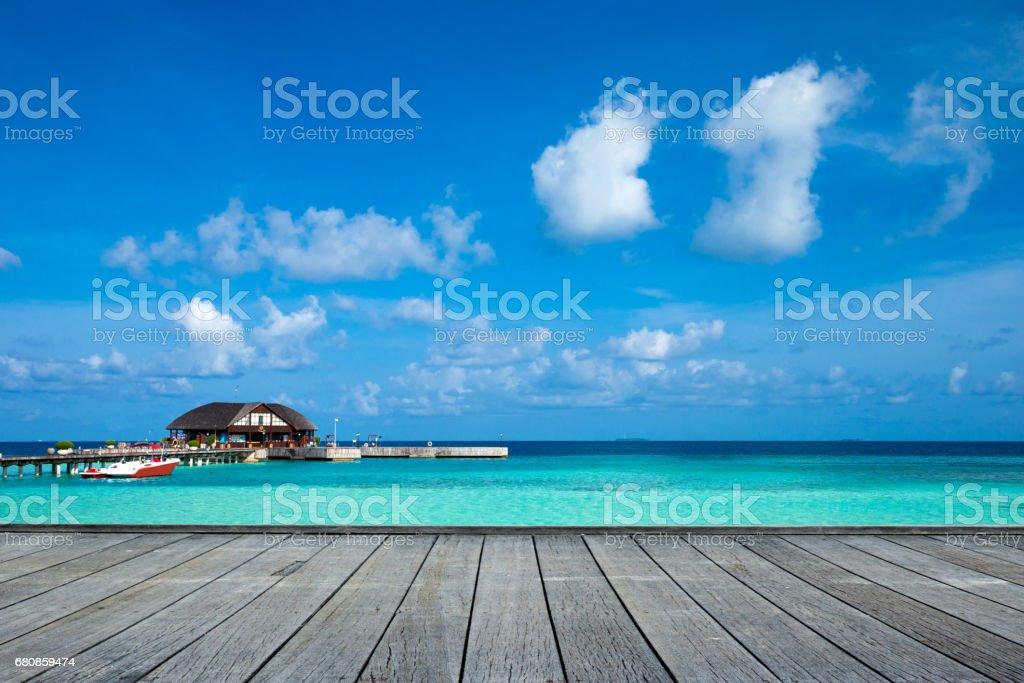 sea in Maldives royalty-free stock photo