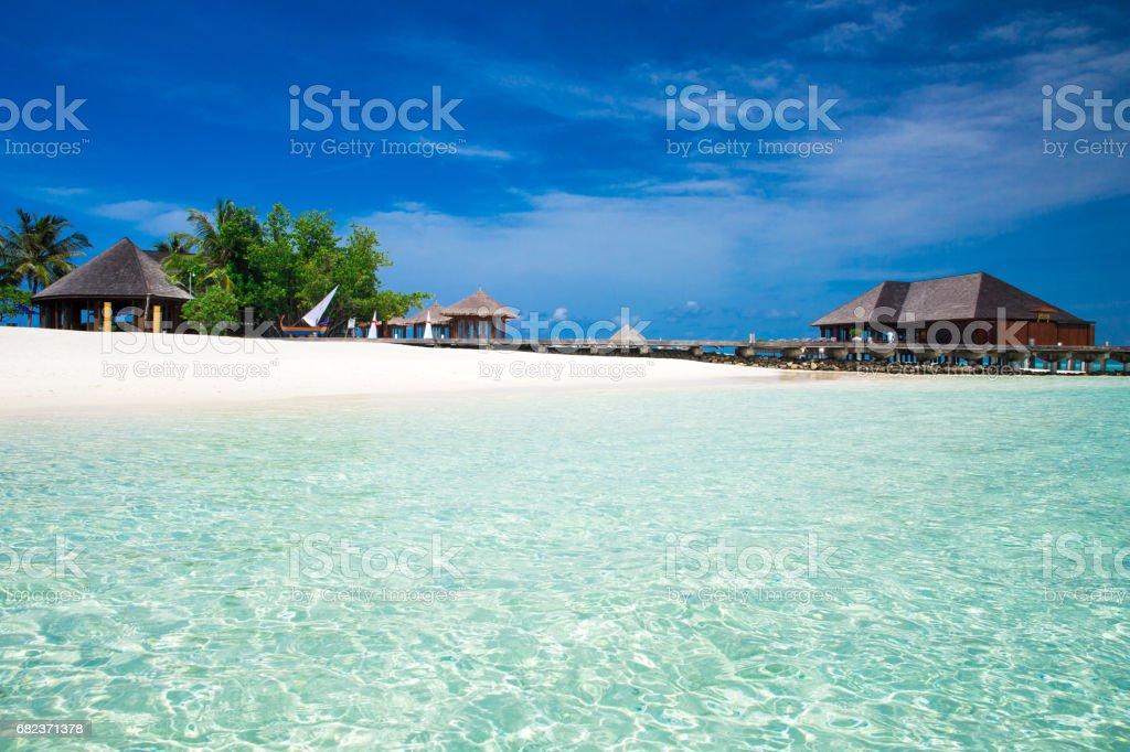 sea in Maldives royalty free stockfoto