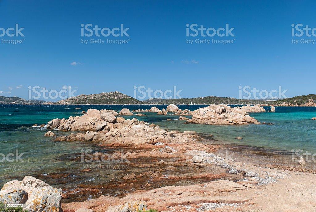 Sea in Sardinia stock photo