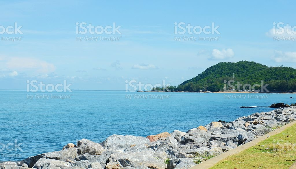 Sea in Thailand stock photo
