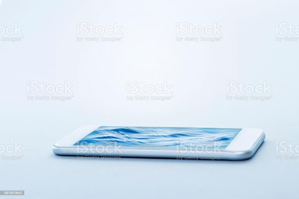 Sea In The Smartphone stock photo