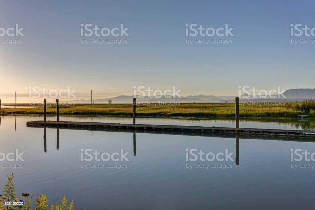 sea inlet in a park stock photo