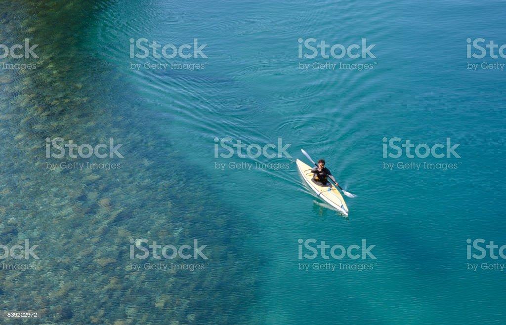 Sea Kayak in Patagonia, Argentina. stock photo