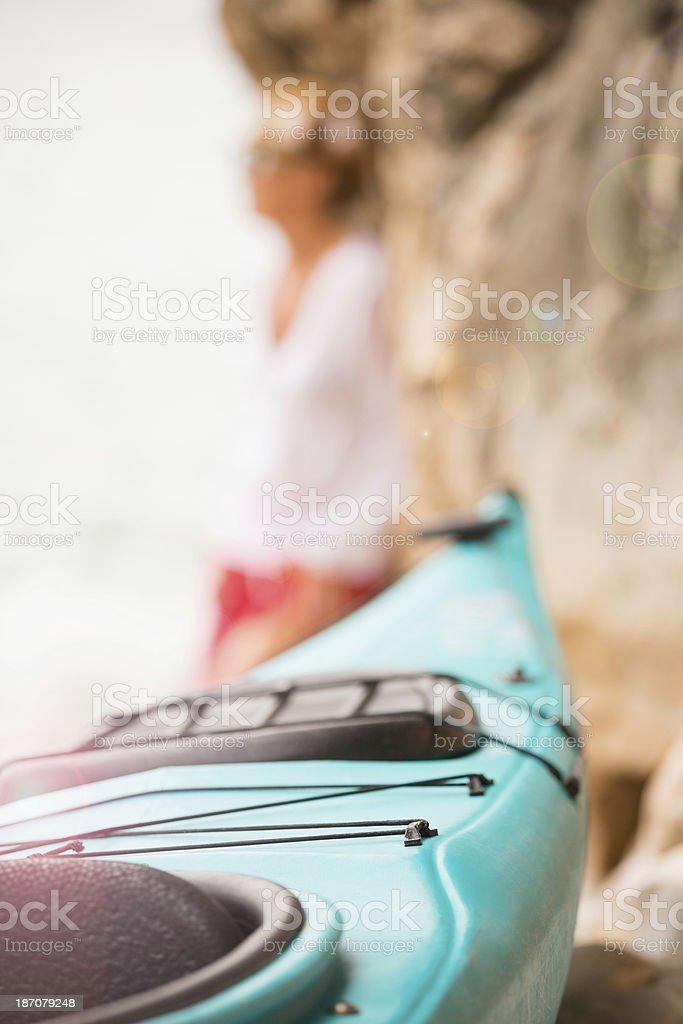 Sea Kayak on Beach royalty-free stock photo