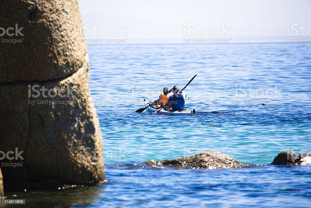 Sea kayaking stock photo