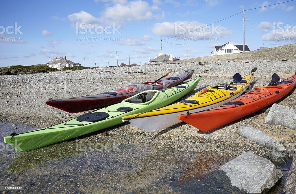 Sea Kayaks royalty-free stock photo